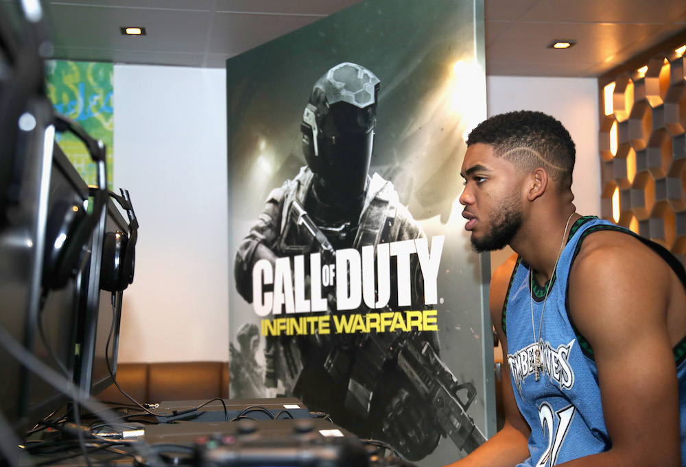 NBA player Karl-Anthony Towns attends The Ultimate Fan Experience, Call Of Duty XP 2016 presented by Activision at The Forum on September 2, 2016 in Inglewood, California