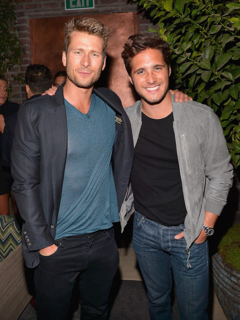 Actors Glen Powell (L) and Diego Boneta attend the Audi Celebrates The 68th Emmys at Catch LA on September 15, 2016 in West Hollywood, California