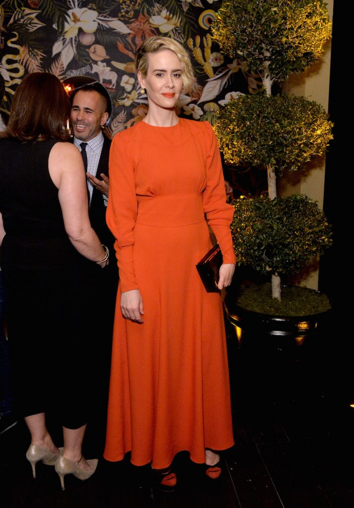 Actress Sarah Paulson attends the 2016 Entertainment Weekly Pre-Emmy party at Nightingale Plaza on September 16, 2016 in Los Angeles, California