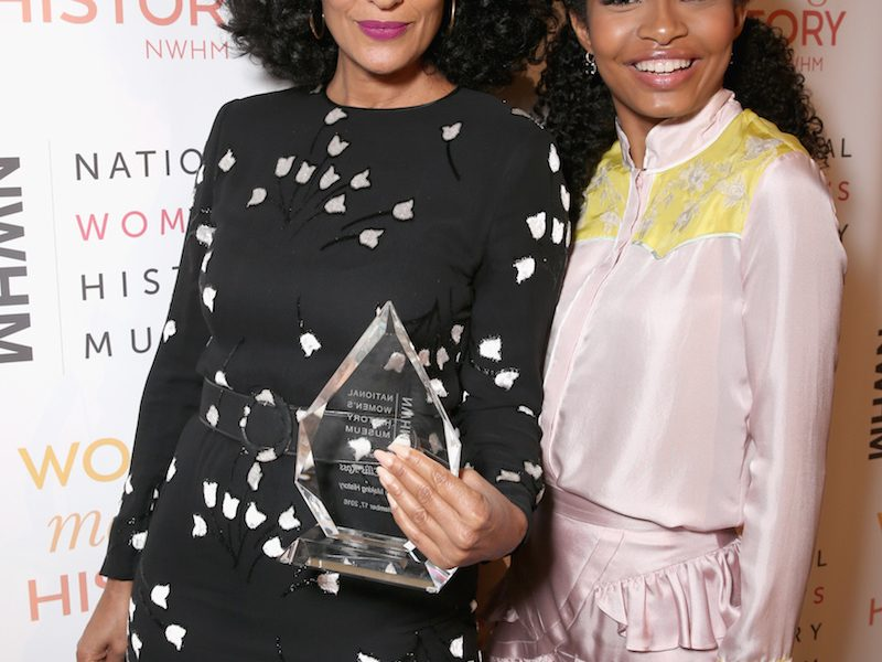 Honoree Tracee Ellis Ross (L) and actress Yara Shahidi attend the National Women's History Museum 5th Annual Women Making History Brunch presented by Glamour and Lifeway Foods at Montage Beverly Hills on September 17, 2016 in Beverly Hills, California