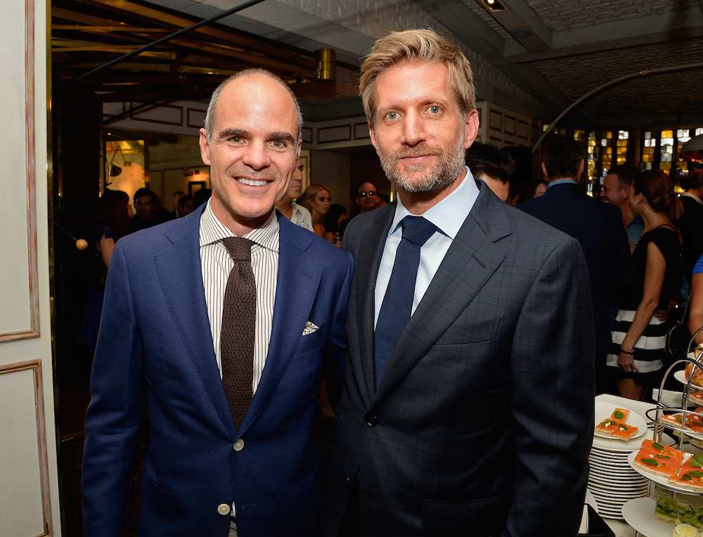 Actors Michael Kelly (L) and Paul Sparks attends the BBC America BAFTA Los Angeles TV Tea Party 2016 at The London Hotel on September 17, 2016 in West Hollywood, California