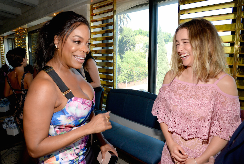 Actresses Niecy Nash (L) and Emilia Clarke attend the BBC America BAFTA Los Angeles TV Tea Party 2016 at The London Hotel on September 17, 2016 in West Hollywood, California