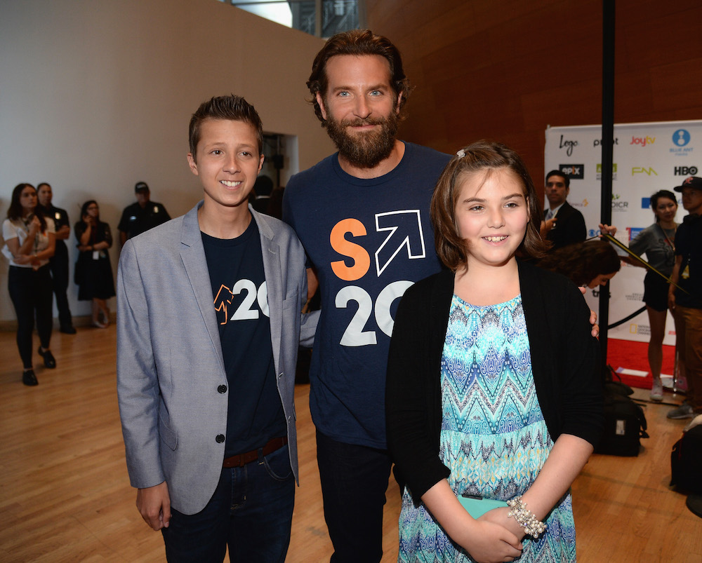 Bradley Cooper and patient Emily Whitehead attend Stand Up To Cancer (SU2C), a program of the Entertainment Industry Foundation (EIF), staging its fifth biennial fundraising telecast at the Walt Disney Concert Hall on Friday September 8, 2016 in Hollywood California