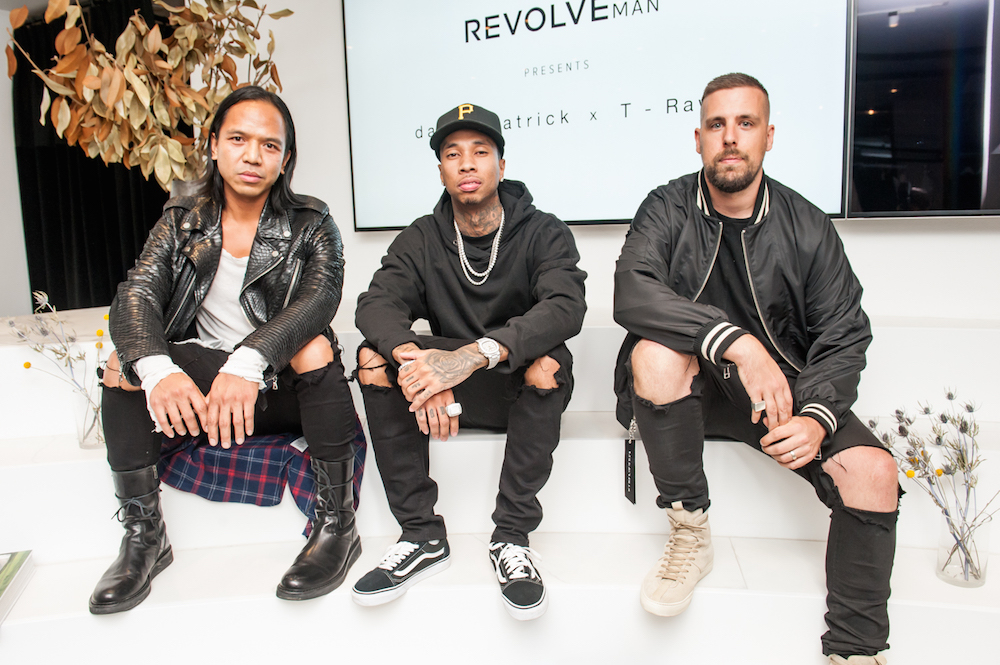 Michael Mente, Tyga,  and Daniel Patrick at the launch of Daniel Patrick x T-Raww for REVOLVEman Collaboration