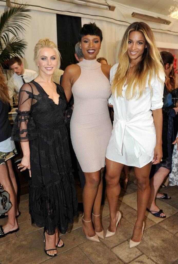 (L-R) Actress Julianne Hough, singers Jennifer Hudson, and Ciara attend Revlon's Annual Philanthropic Luncheon at Chateau Marmont on September 27, 2016 in Los Angeles, California