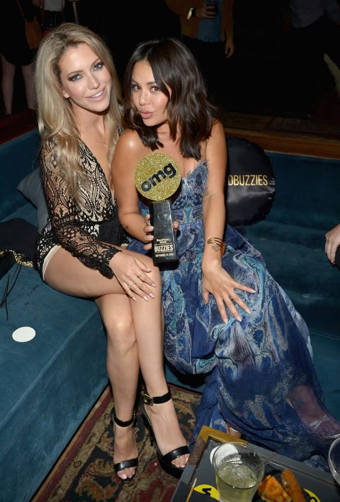 Janel Parrish and friend attends The Buzzies, BuzzFeed's Pre-Emmy party produced by Pen&Public, at HYDE Sunset: Kitchen + Cocktails on September 14, 2016 in West Hollywood, California