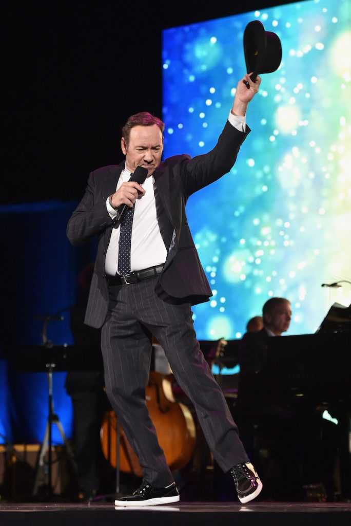 Actor Kevin Spacey performs onstage during the MPTF 95th anniversary celebration with