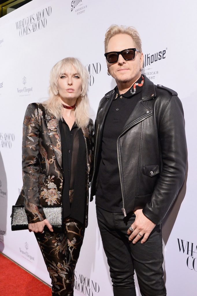 Musicians Ace Harper (L) and Matt Sorum attend the What Goes Around Comes Around Beverly Hills Opening Event on October 13, 2016 in Beverly Hills, California