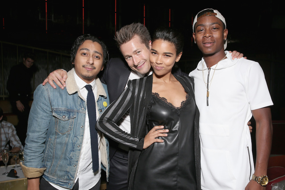 (L-R) Actors Tony Revolori, Glen Powell, Alexandra Shipp, and RJ Cyler attend The Hollywood Reporter's Next Gen 2016 Celebration at Nightingale Plaza on November 9, 2016 in Los Angeles, California