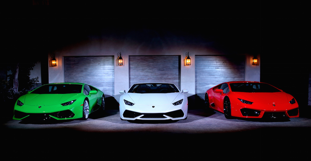 AA general view of atmosphere at the global debut of the Huracan RWD Spyder hosted by Lamborghini on November 15, 2016 in Pacific Palisades, California
