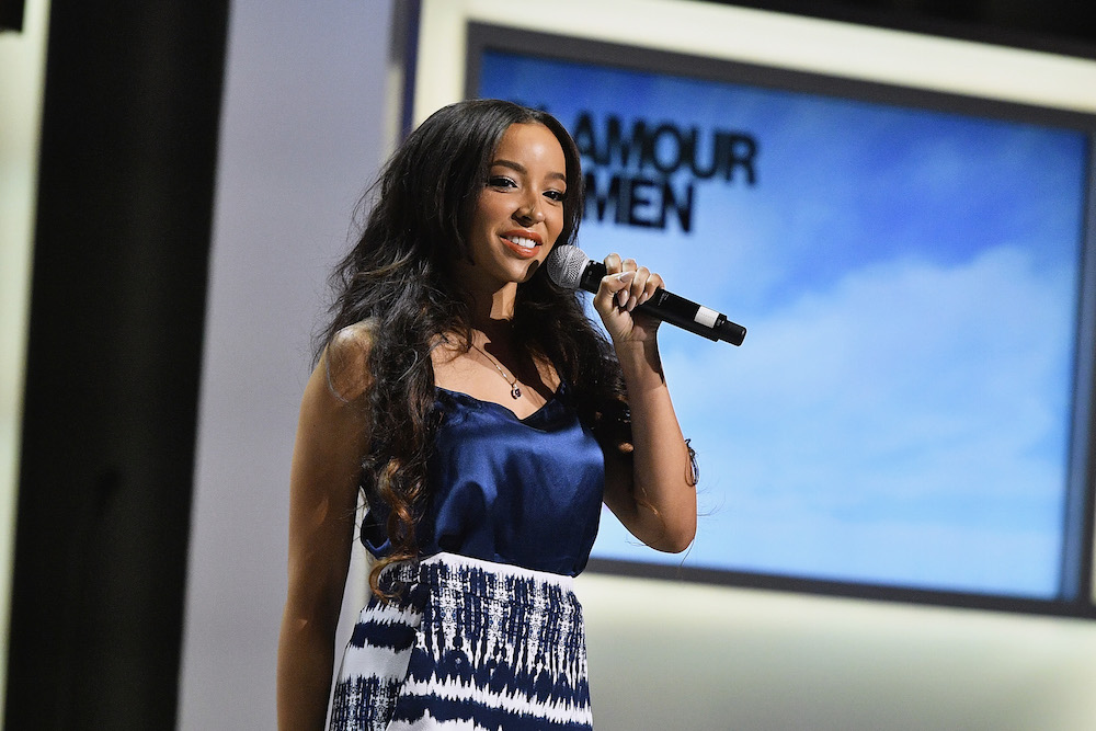 Singer-Songwriter Tinashe performs onstage at Glamour Women Of The Year 2016 LIVE Summit at NeueHouse Hollywood on November 14, 2016 in Los Angeles, California