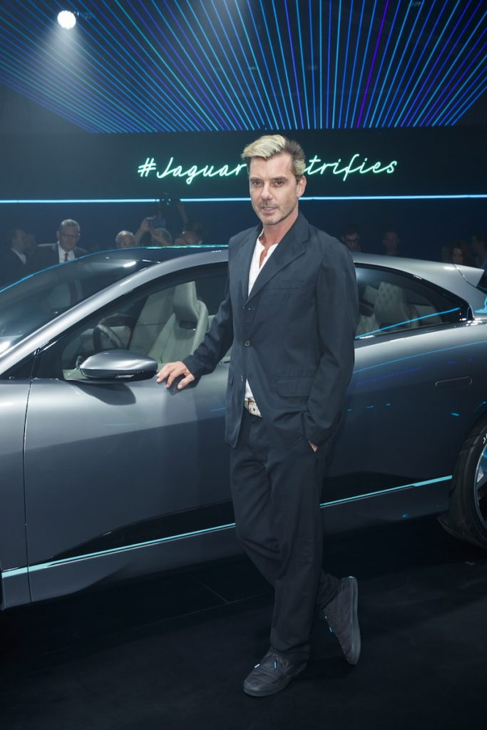Gavin Rossdale at the Jaguar Concept reveal, ahead of its global debut at the Los Angeles Auto Show, at MILK Studios in Los Angeles, California