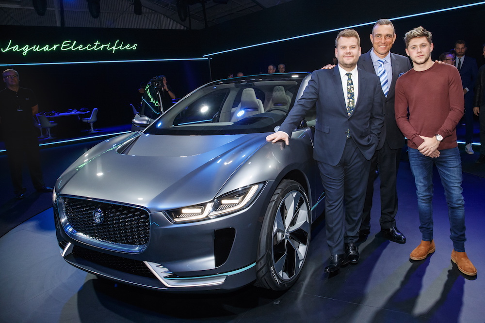 Exceptional James Corden, Vinnie Jones And Niall Horan At The Jaguar Concept Reveal,  Ahead Of Its Global Debut At The Los Angeles Auto Show, At MILK Studios In  Los ...