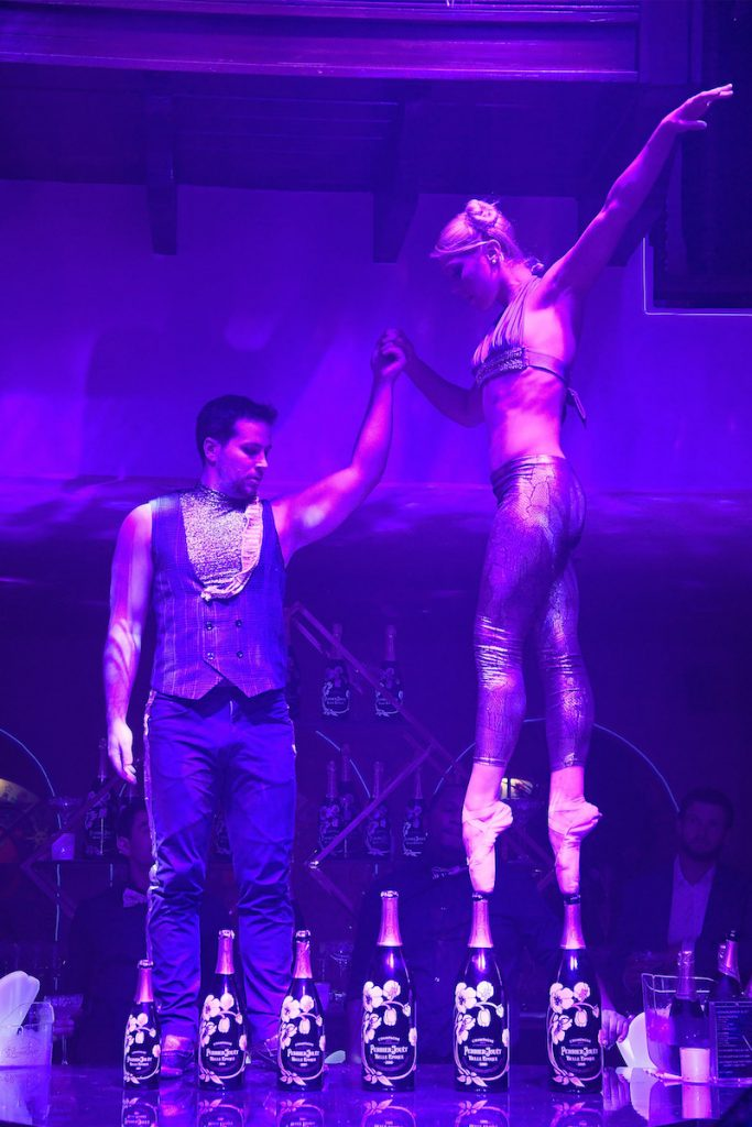 Performers at the L'Eden By Perrier-Jouet opening night in partnership with Vanity Fair at Casa Claridge's on November 29, 2016 in Miami Beach, Florida
