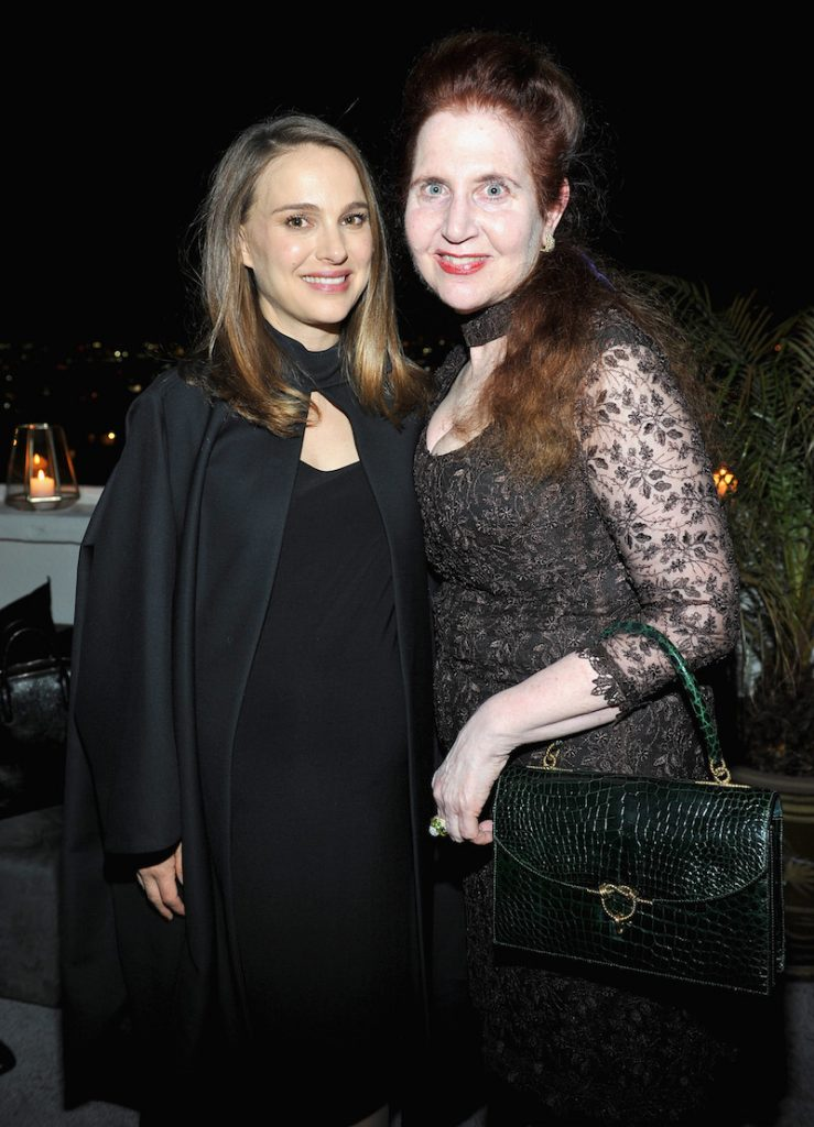 Actress Natalie Portman (L) and W Magazine's Lynn Hirschberg attend W Magazine Celebrates the Best Performances Portfolio and the Golden Globes with Audi and Moet & Chandon at Chateau Marmont on January 5, 2017 in Los Angeles, California