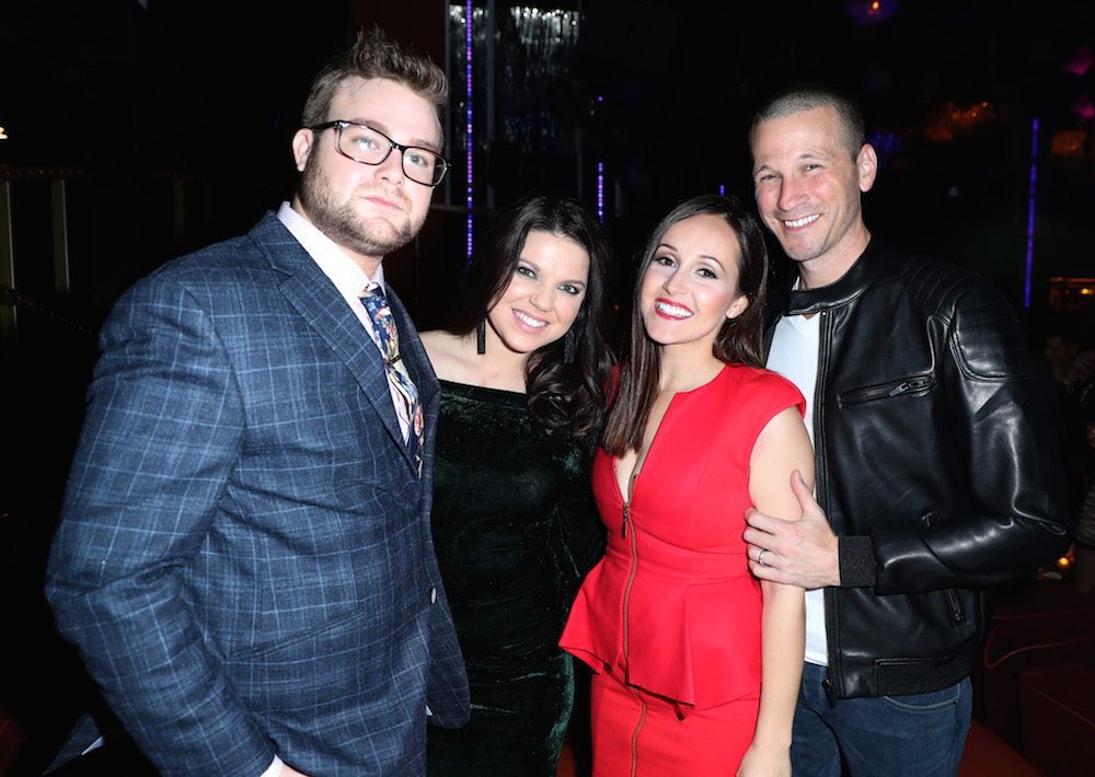 (L-R) Dillon King, Amy King, Ashley Rosenbaum, and J.P. Rosenbaum attend WE tv's