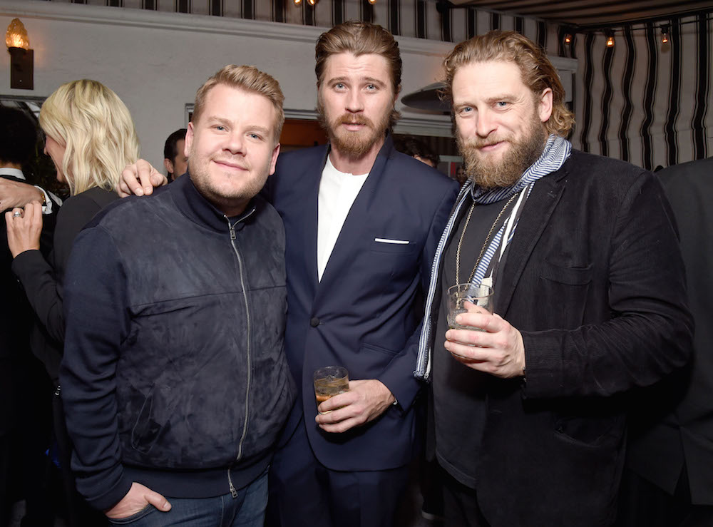 TV host James Corden (L) and actor Garrett Hedlund (C) attend W Magazine Celebrates the Best Performances Portfolio and the Golden Globes with Audi and Moet & Chandon at Chateau Marmont on January 5, 2017 in Los Angeles, California