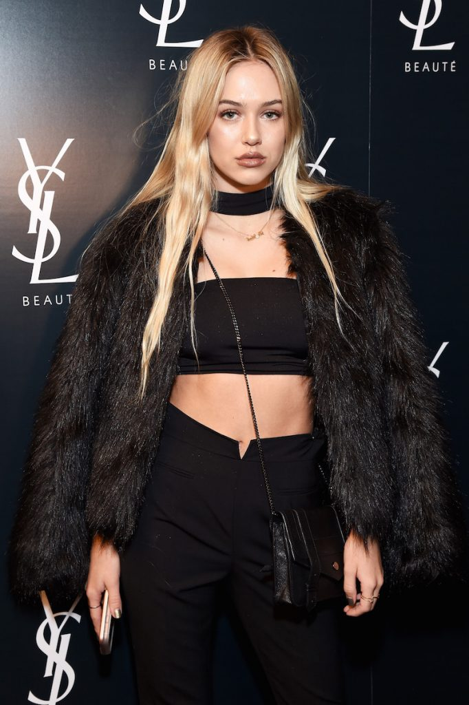Model Delilah Belle Hamlin attends the YSL Beauty Club Party at the Ace Hotel on January 10, 2017 in Downtown Los Angeles, California