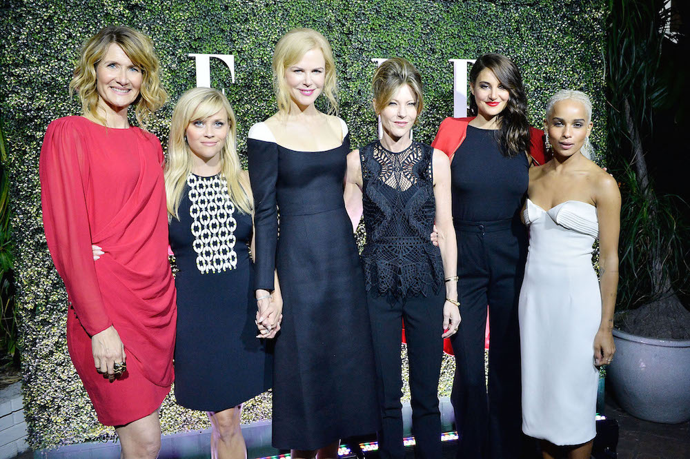 (L-R) Actresses Laura Dern, Reese Witherspoon, Nicole Kidman, Shailene Woodley and Zoe Kravitz attend ELLE's Annual Women In Television Celebration 2017 at Chateau Marmont on January 14, 2017 in Los Angeles, California