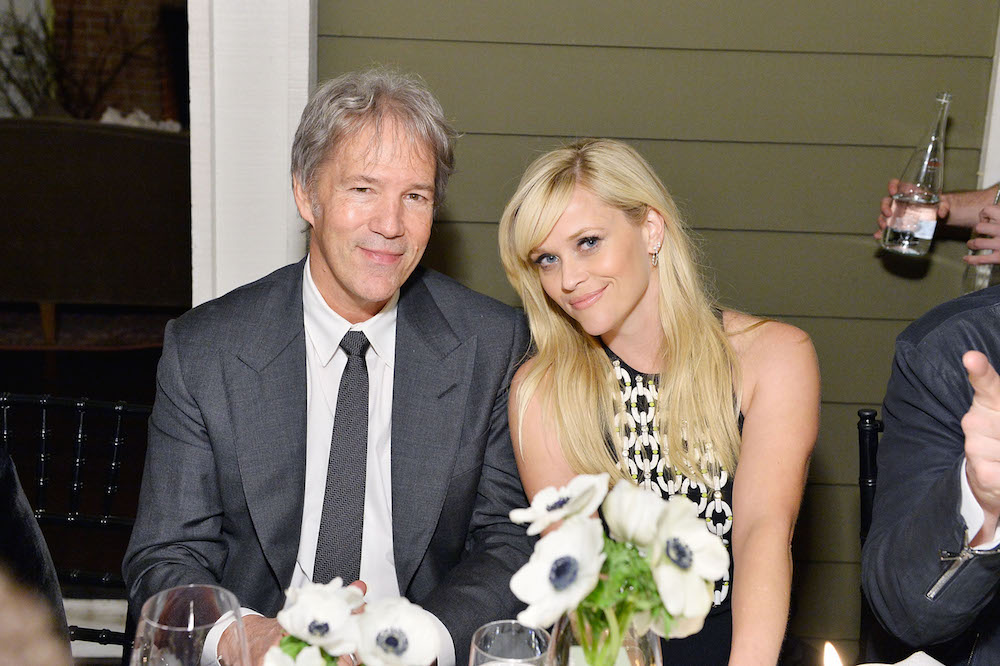 Producer David E Kelley and actress Reese Witherspoon attend ELLE's Annual Women In Television Celebration 2017 at Chateau Marmont on January 14, 2017 in Los Angeles, California