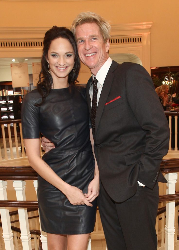 Actors Matthew Modine (R) and daughter Ruby Modine attend