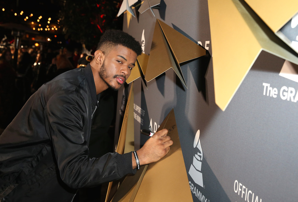 Singer Trevor Jackson attends Delta Air Lines official Grammy event featuring private performance and interactive evening with Halsey at Beauty & Essex, adjacent to the new Dream Hollywood to celebrate the 59th Annual GRAMMY Awards on February 9, 2017 in Los Angeles, California