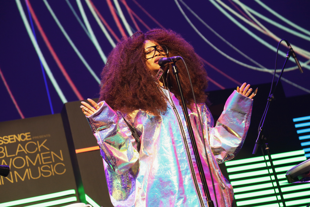 Singer Erykah Badu performs onstage during 2017 Essence Black Women in Music at NeueHouse Hollywood on February 9, 2017 in Los Angeles, California