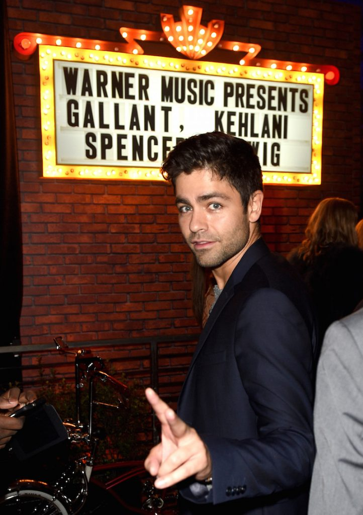 Actor Adrian Grenier attends the Warner Music Group GRAMMY Party at Milk Studios on February 12, 2017 in Hollywood, California