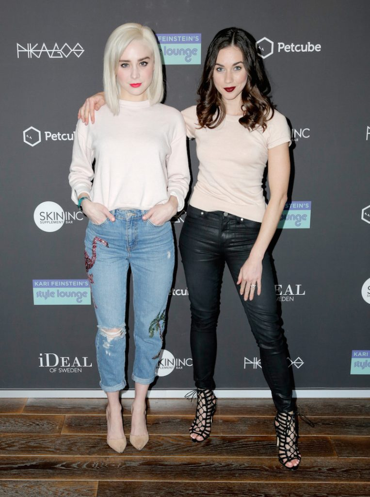 Actors Alessandra Torresani (L) and Lyndon Smith attend Kari Feinstein's Pre-Oscar Style Lounge at the Andaz Hotel on February 23, 2017 in Los Angeles, California