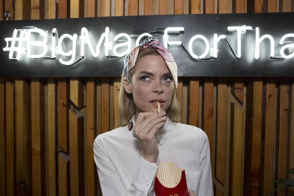 Jaime King joins McDonald's in celebrating the 'Year in Music' and the new Grand MacTM and Mac Jr.TM sandwiches in Hollywood, CA