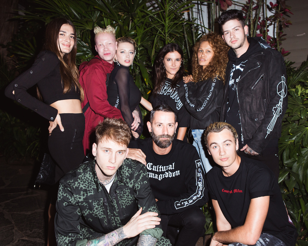 Natalia Bonifaci, Shaun Ross, Caroline Vreeland, Machine Gun Kelly, Marcelo Burlon, Melissa Graham, Travis Mills, Brandon Thomas Lee at Marcelo Burlon: Chateau Marmont Dinner