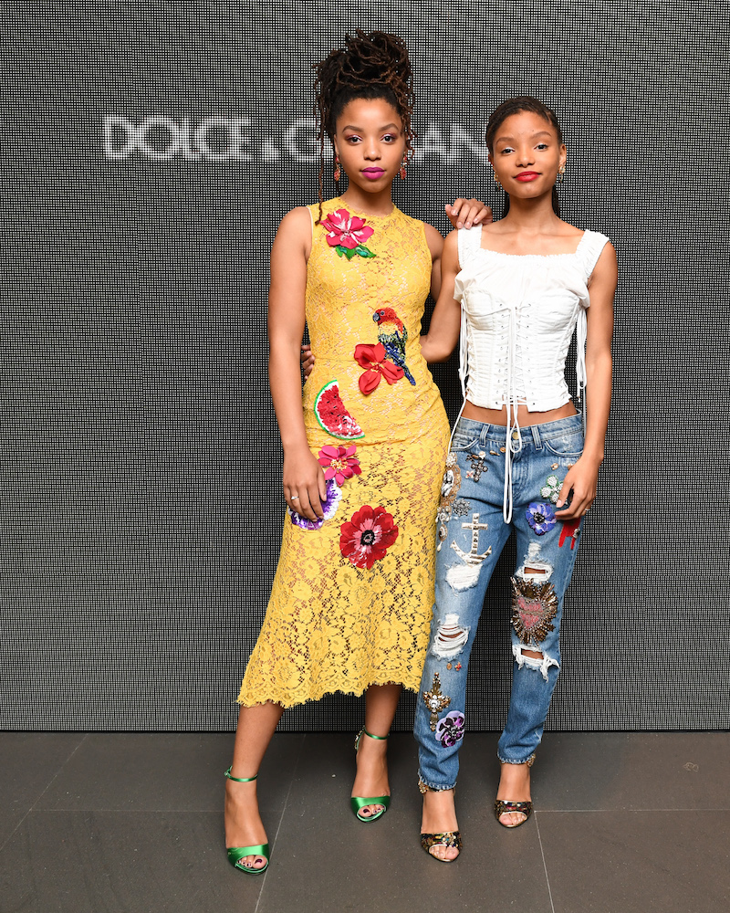 Chloe x Halle attend the Dolce&Gabbana: #DGNEWVISION Cocktail