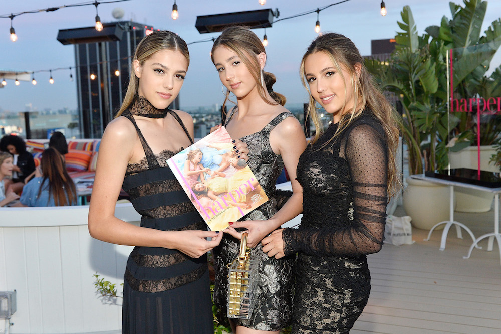 Sistine Stallone, Scarlet Stallone and Sophia  Stallone attend harper x Harper's BAZAAR May Issue Event Hosted by The Stallone Sisters and Amanda Weiner Alagem at Mama Shelter West Hollywood on April 26, 2017 in Los Angeles, California