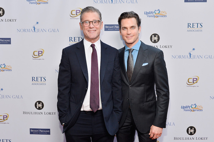 Simon Halls and Matt Bomer attend Uplift Family Services at Hollygrove Gala at W Hollywood on May 18, 2017 in Hollywood, California