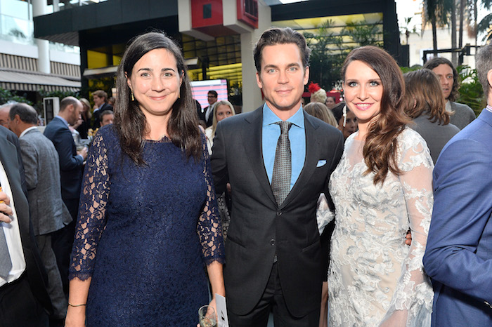 Anna Fishko, Matt Bomer and Janie Bryant attend Uplift Family Services at Hollygrove Gala at W Hollywood on May 18, 2017 in Hollywood, California