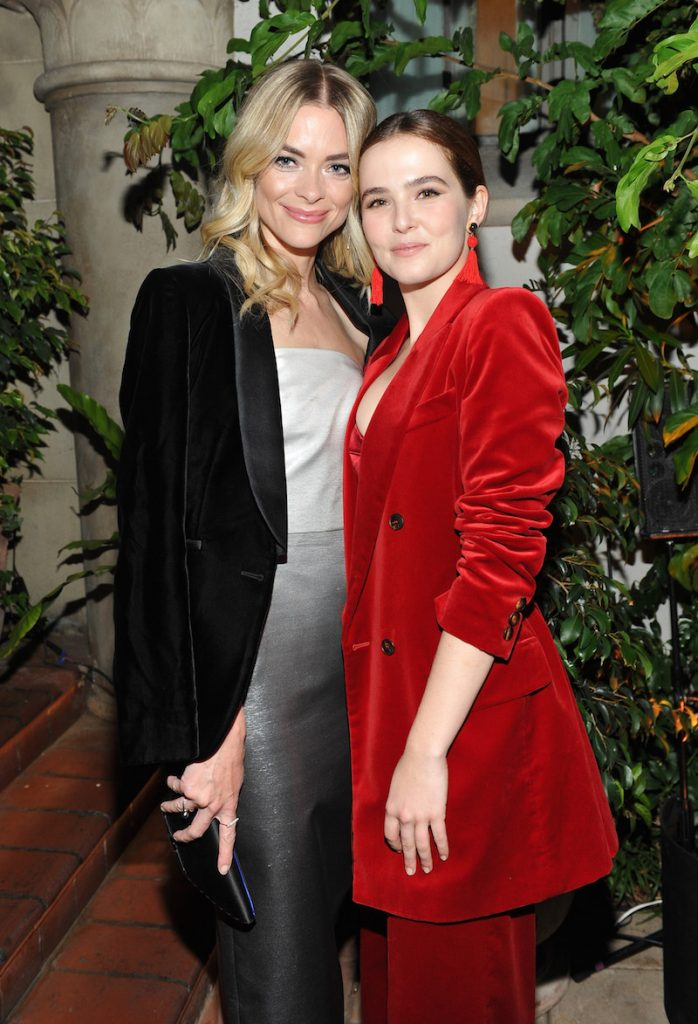 Actor Jaime King (L) and Honoree Zoey Deutch, both wearing Max Mara, at Max Mara Celebrates Zoey Deutch - The 2017 Women In Film Max Mara Face of the Future at Chateau Marmont on June 12, 2017 in Los Angeles, California