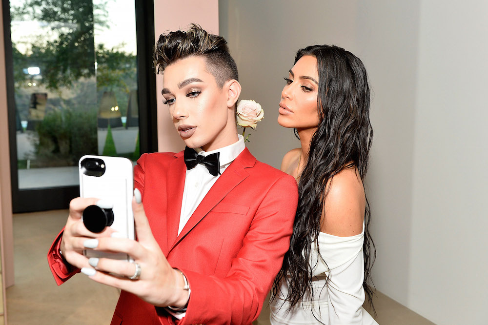 Kim Kardashian West and James Charles celebrate The Launch Of KKW Beauty on June 20, 2017 in Los Angeles, California