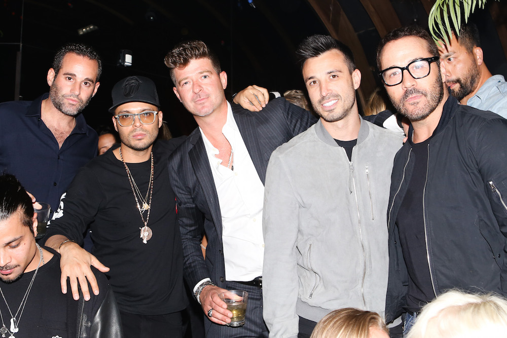 Richie Akiva, Robin Thicke, Jeremy Piven at 1OAK Celebrates: Lana Del Rey's Birthday