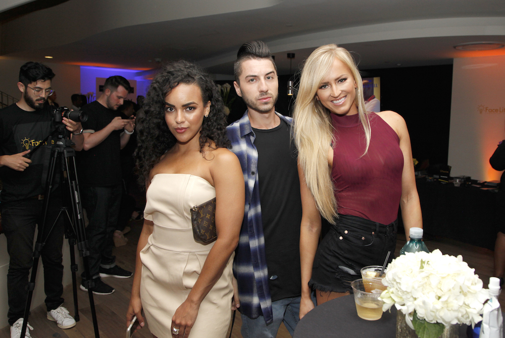 Diandra Barnwell, Tom Ierna and Danielle Moinet attend the Talent Resources Sports Party hosted by Martell Cognac at Playboy Headquarters on July 11, 2017 in Los Angeles, California