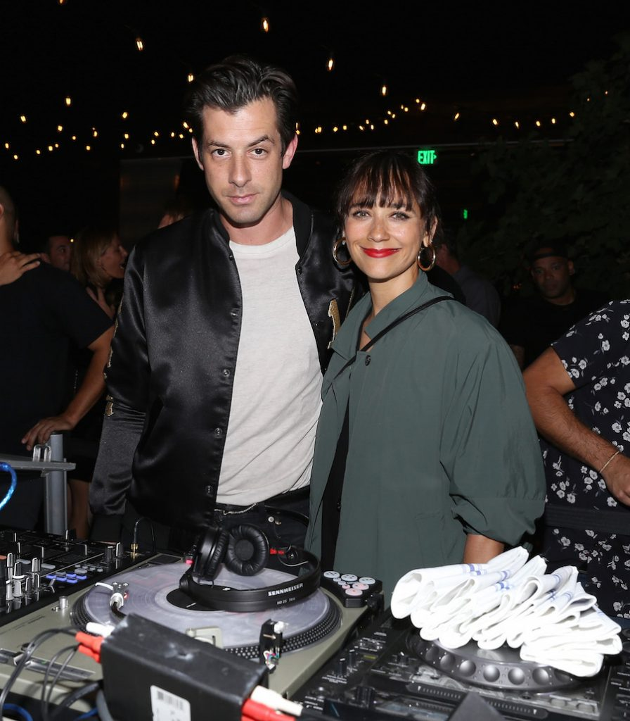 Mark Ronson and Rashida Jones attend The Grand Opening Of The Highlight Room at DREAM Hollywood on July 11, 2017 in Hollywood, California