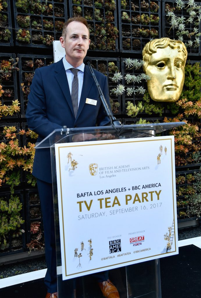 BAFTA's Kieran Breen speaks during the BBC America BAFTA Los Angeles TV Tea Party 2017 at The Beverly Hilton Hotel on September 16, 2017 in Beverly Hills, California