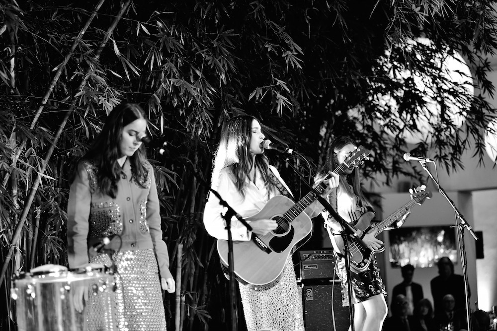 HAIM performs at the Hammer Museum 15th Annual Gala in the Garden with Generous Support from Bottega Veneta on October 14, 2017 in Los Angeles, California