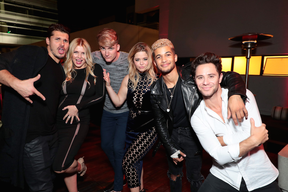 Gleb Savchenko, Elena Samodanova, Hudson Sheaffer, Sasha Pieterse, Jordan Fisher, Sasha Farber at the PEOPLE's Ones to Watch Party presented by Maybelline New York at NeueHouse Hollywood, Los Angeles