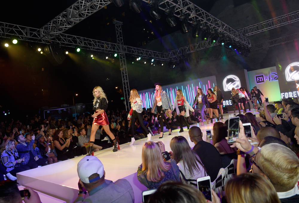Forever 21 x Taco Bell Collection and the fans who inspired it at DTLA Fashion District on October 10, 2017 in Los Angeles, California