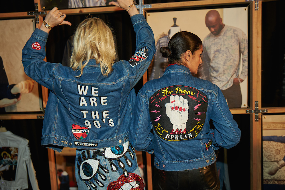 Caro Daur and Lala Berli at Levi's Trucker 50th Anniversary at Levi's Haus of Strauss, Los Angeles, CA