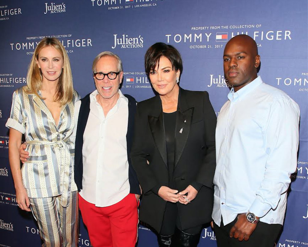 Tommy Hilfiger, Kris Jenner, Corey Gamble attend Julien's Auctions and Tommy Hilfiger VIP reception on October 19, 2017 in Los Angeles, California