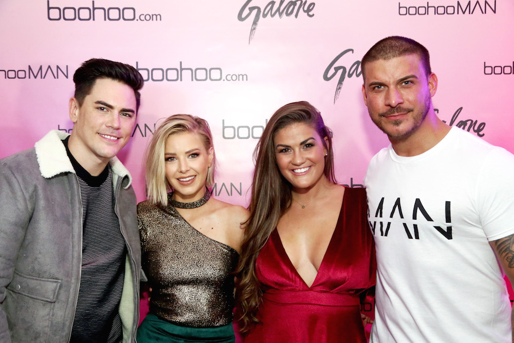 Tom Sandoval, Ariana Madix, Brittany Cartwright, and Jax Taylor at the boohoo.com LA Pop-up Store Launch Party with Galore Magazine on November 1, 2017 in Los Angeles, California