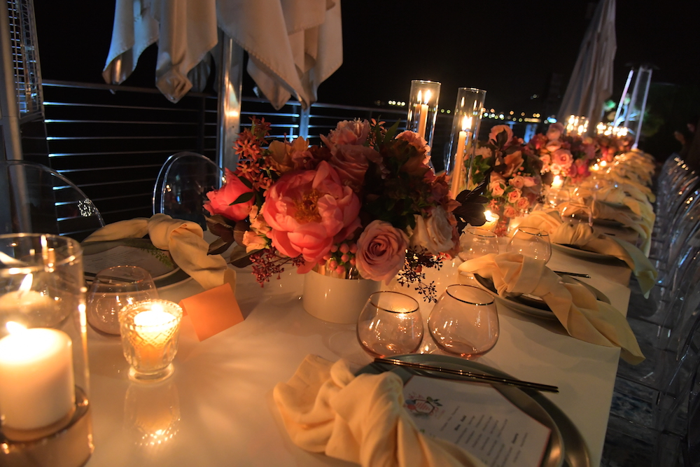A general view of atmosphere during Bumble Bizz Los Angeles Launch Dinner At Nobu Malibu at Nobu Malibu on November 15, 2017 in Malibu, California