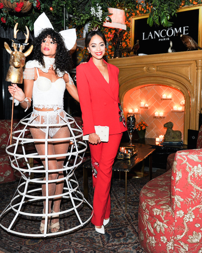 Amber Stevens West at the Lancome X Vogue: Celebrates Holiday