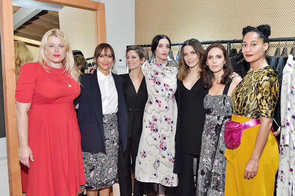 (L-R) Amanda de Cadenet, Rashida Jones, Cindi Leive, Sarah Sophie Flicker, Sophia Bush, Paola Mendoza and Tracee Ellis Ross attend Conde Nast & The Women March's Cocktail Party to Celebrate the One Year Anniversary of the March & the Publication of Together We Rise on January 24, 2018 in West Hollywood, California